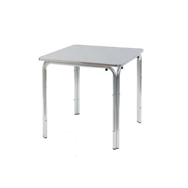 Tavolo bar 80x80 quadrato in alluminio tavolino per for Tavolo esterno 80x80