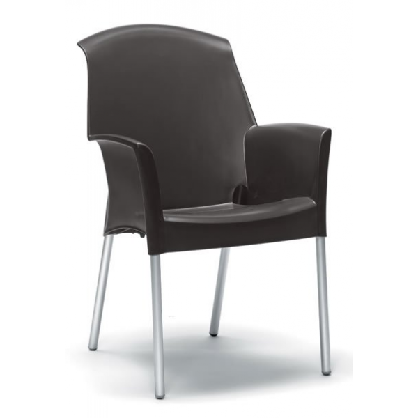 Sedia con braccioli esterno economica sedie colorate per for Sedie da bar ikea