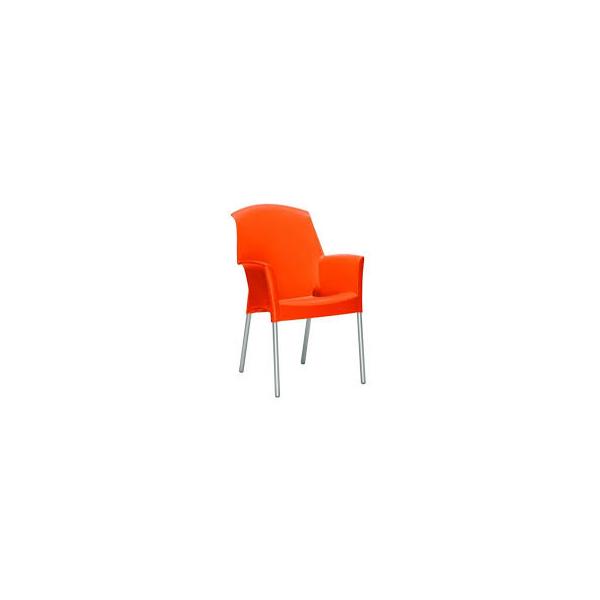 Sedia con braccioli esterno economica sedie colorate per for Sedie alluminio design