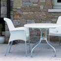 SUPER JENNY - sedia (poltrona) Impilabile in polipropilene con gambe in alluminio SCAB DESIGN per bar, ristorante, hotel