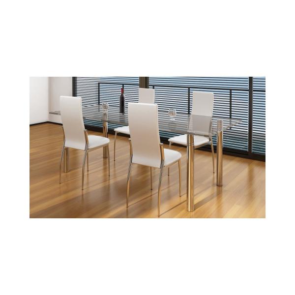 Sedia ecopelle sedie ristorante sedie bar sedia imilabile for Sedie salone moderne