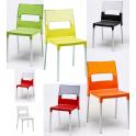 DIVA SPED.GRATUITA - Sedia polipropilene rinforzato fibra di vetro gambe in alluminio bar ristorante hotel SCAB DESIGN