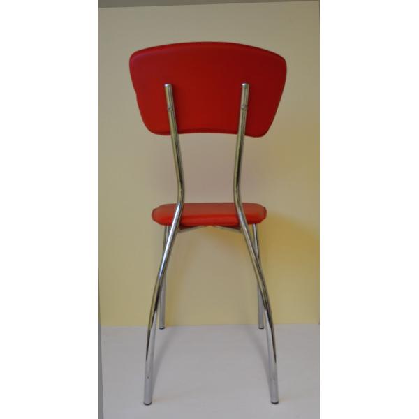 Great sedia stella impilabile in metallo cromato ed for Sedie moderne prezzi