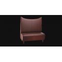 Sirena - Divanetto per bar e poltroncina Contract personalizzati per locali in ecopelle (pelle ecologica), tessuto