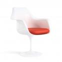 TULIP - Poltrona replica design Eero Saarinen in fibra di vetro con anima in acciaio colore bianco