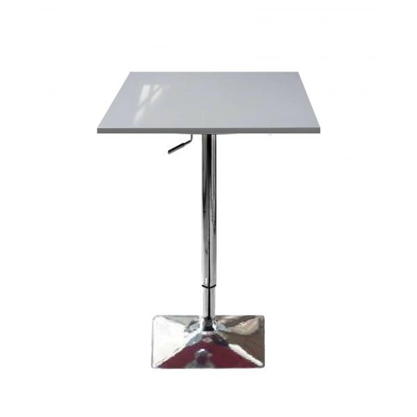 Tavolo saturno qnq alzabile con gamba centrale - Tavoli alti da bar con sgabelli ...