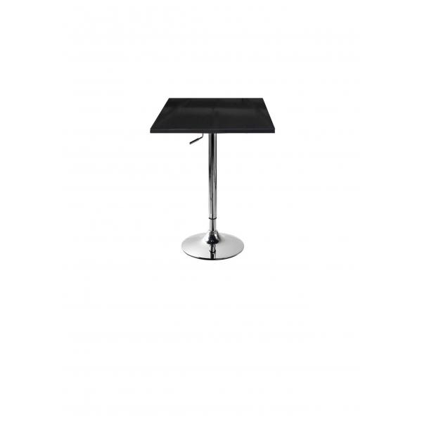 Tavolo gamba centrale altezza regolabile acciao cromato - Tavoli alti da bar con sgabelli ...