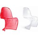 Panton chair design - sedia simil Panton Policarbonato da esterno ed interno