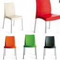 BOULEVARD - sedia Impilabile in polipropilene con gambe in alluminio GRAND SOLEIL per bar, ristorante, hotel