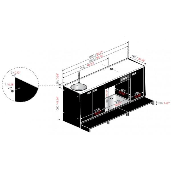 Altezza bancone bar cucina trattamento marmo cucina - Dimensioni minime cucina bar ...