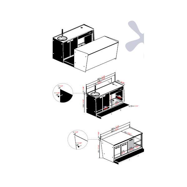 """Start up LP è un nuovo modo di intendere l'arredamento bar. Un' unità essenziale che rende accessibile, a chiunque la scelta di cominciare una propria attività aprendo un locale (bar, pizzeria, ristorante, fast food, gelateria, panetteria, pasticceria) con uno dei migliori banconi bar attualmente sul mercato che integra tutti i servizi indispensabili al suo funzionamento:  - Cella con refrigerazione ventilata  - Drop-in """"A-Plus"""" per l'esposizione di food & Beverage  - Postazione per macchina caffè  - Lavello con miscelatore mono leva  - Modulo Panorama congelatore, espositore per gelato artiginale con unità di condensazione integrata 4/6 pozzetti  Con l'eccezionale garanzia di 3 anni su tutti i componenti del bancone"""