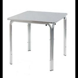 Tavolo 60x60 In Alluminio Quattro Gambe