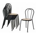 Vienna - Sedia thonet impilabile metallo,finta paglia, plastica, legno o imbottita in ecopelle per bar, ristorante, hotel