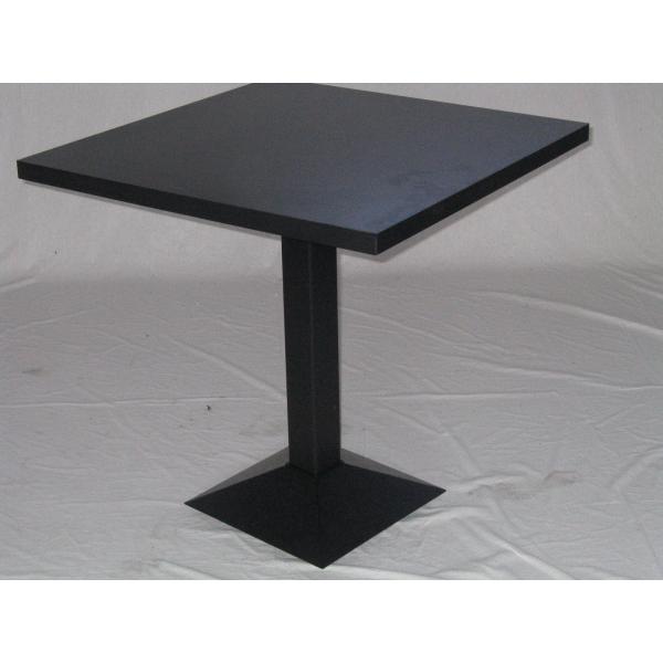 Tavolo gamba centrale ghisa top legno tavolini ristorante bar tavoli top quadrato legno - Tavolo quadrato gamba centrale ...