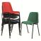 Milena - sedia ufficio impilabile in metallo e polipropilene standard o ignifugo per sala riunione, sala d'attesa,hotel