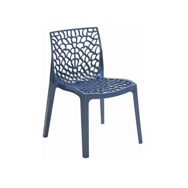 Sedie blu Grand Soleil in polipropilene modello Gruvyer P