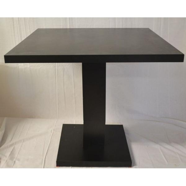 Tavolo giove q in legno gamba centrale tavolini ristorante bar tavoli top quadrato legno - Tavolo quadrato legno ...