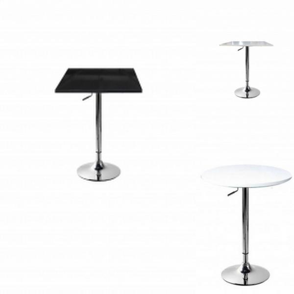 Tavolo gamba centrale altezza regolabile acciao cromato for Sgabelli e tavoli alti per bar