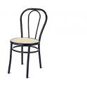 Vienna - Sedia thonet non impilabile metallo, finta paglia, plastica, legno o imbottita in ecopelle per bar, ristorante, hotel