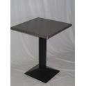 Marte W - tavolo con gamba in ferro (ghisa) e piano in werzalit 60x60,70x70..,diam.60, diam.70..cm