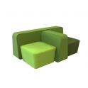 Cube - Divanetto e poltroncina Contract per locali (rivestimento, colori e dimensioni personalizzabili)