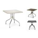 OLIMPO - Tavolo 80x80cm contract piano ribaltabile in polipropilene gambe alluminio giardino, bar, pizzeria Scab Design