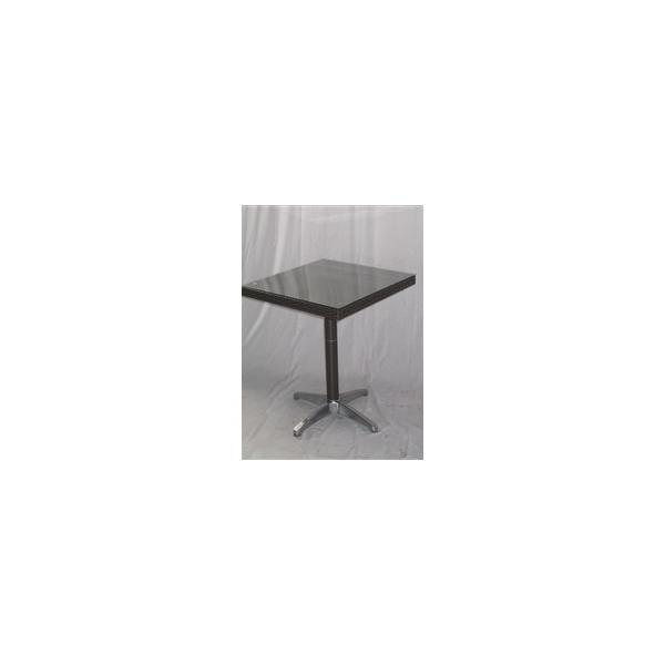 TAVOLO SIVIGLIA 70X70 INTRECCIATO in SIMIL RATTAN con base in Alluminio - Mon...