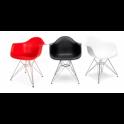 DAR Eiffel chair Eames Poltrona in noleggio in Polipropilene e acciaio cromato