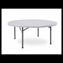 Tavolo rotondo in noleggio, diam.150cm, pieghevole per catering, feste, eventi