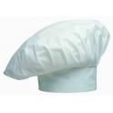 Cappello da cuoco puro cotone colore bianco pizzeria, ristorante, bar, bistrot, hotel