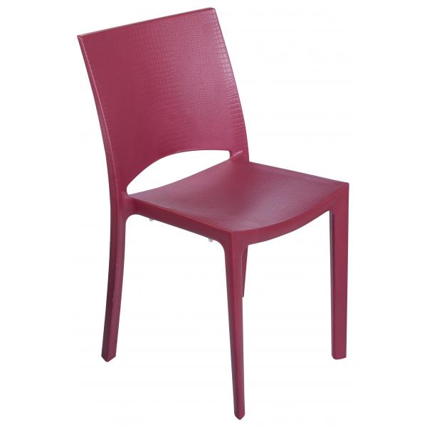 Cocco sedia contract impilabile polipropilene effetto for Poltrone finta pelle