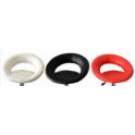 Ricambi in ecopelle colore nero, bianco, rosso per sgabello bar modello XH232