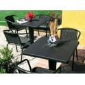 ZAVOR - Tavolo contract quadrato gamba centrale 70X70 polipropilene giardino, bar, ristorante, pizzeria Grand Soleil