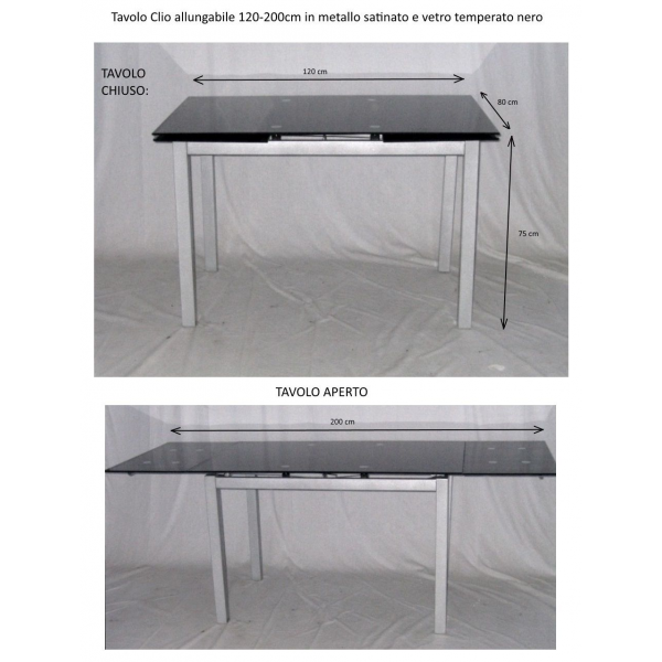 Vendita tavoli allungabili tavolo da casa prezzo tavoli - Tavolo in vetro nero ...