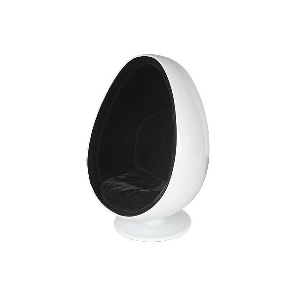 Egg pod chair sedia forma ergonomica in fibra di vetro for Poltrona uovo esterno