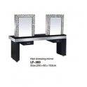 Mobile specchiera centrale a due posti LF-383 uso professionale salone parucchiere, studio bellezza