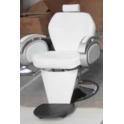 Sedia poltrona parrucchiere barbiere professionale mod.8906 con pompa idraulica per salone parrucchiere