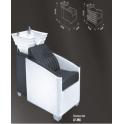 Poltrona lavatesta LF-956 a 1 posto (shampoo bed) ceramica uso professionale salone parrucchiere