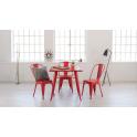 TOLIX - Tavolo 60x60cm in metallo vari colori brillanti casa, bar, ristorante, catering