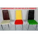NUVOLA STOCK 2° scelta - Sedia in metallo ed ecopelle colori spaiati, fine serie, leggeri difetti estetici, usato esposizione