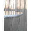 Top, piano tavolo TULIP DIAM. 80cm con bordo a becco d'oca laccato bianco lucido