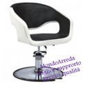 Sedia poltrona parrucchiere professionale mod.8960SP, alzabile salone parrucchiere