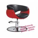 Sedia poltrona parrucchiere professionale mod.Ball P SP, alzabile salone parrucchiere