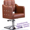 Sedia poltrona parrucchiere professionale mod.6162SP, alzabile per salone parrucchiere