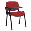 UFFICIO ISO BT - Sedia ufficio, visitatore con bracciolo e tavoletta tessuto standard o certificato IGNIFUGO