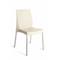 BOULEVARD 2°SCELTA-sedia Impilabile polipropilene gambe alluminio GRANDSOLEIL bar ristorante hotel