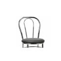 Vienna - Sedia thonet impilabile cromata seduta finta paglia ecopelle standard o certificata ignifugo 1IM da bar hotel