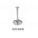 Saturno R 70-90 - Base rotonda in acciaio cromato altezza regolabile 70-90cm bar discoteca ristorante  albergo