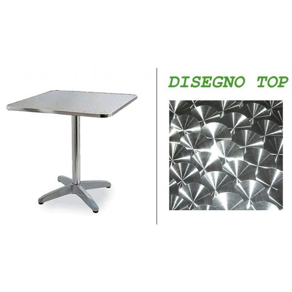 Tavolo in alluminio da bar tavolino per esterno tavolino per bar tavolini per pizzeria tavoli - Tavolo quadrato gamba centrale ...