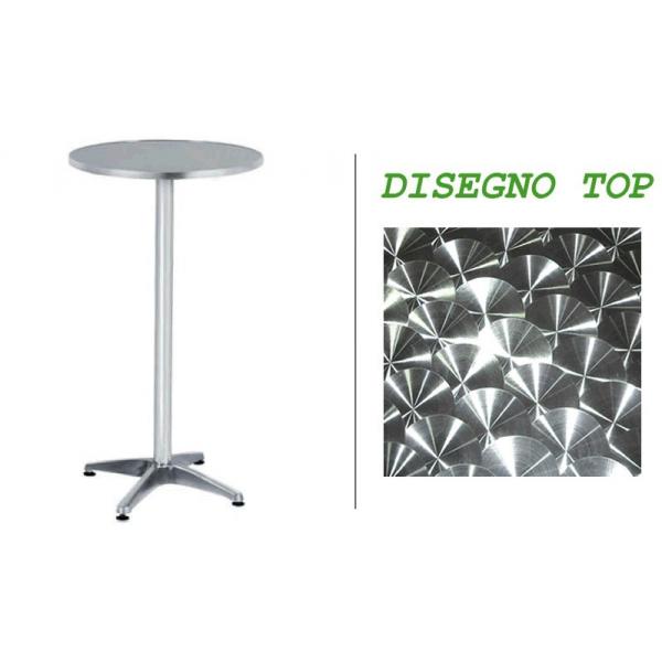 ... tavolino alluminio per esterno,tavoli tondi diam.60xH110 in alluminio